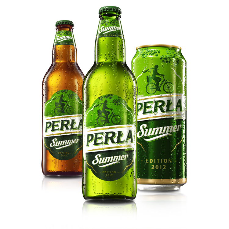 Butelka piwa Perła Summer
