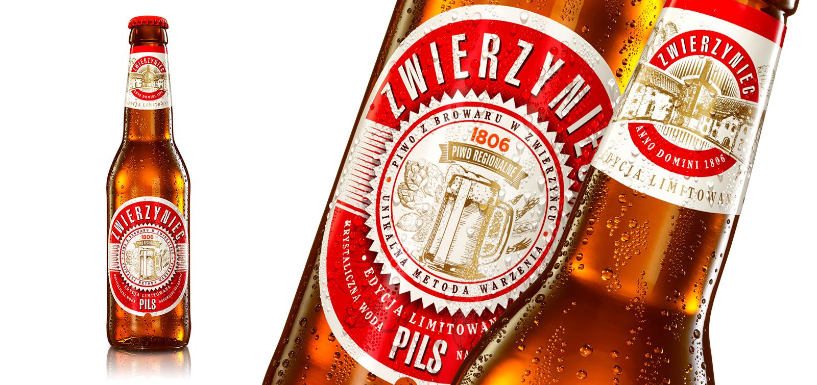 Butelka piwa Zwierzyniec Pils