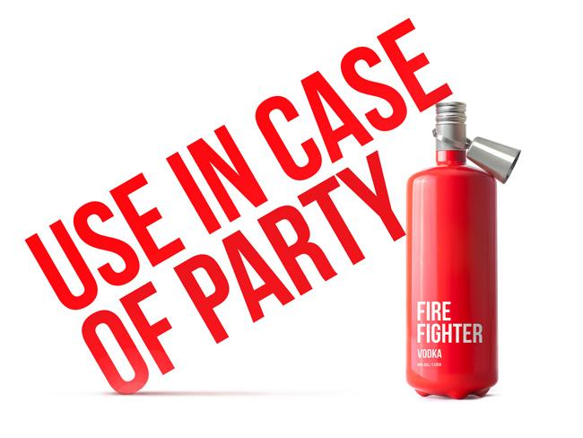 Butelka wódki Fire Fighter1