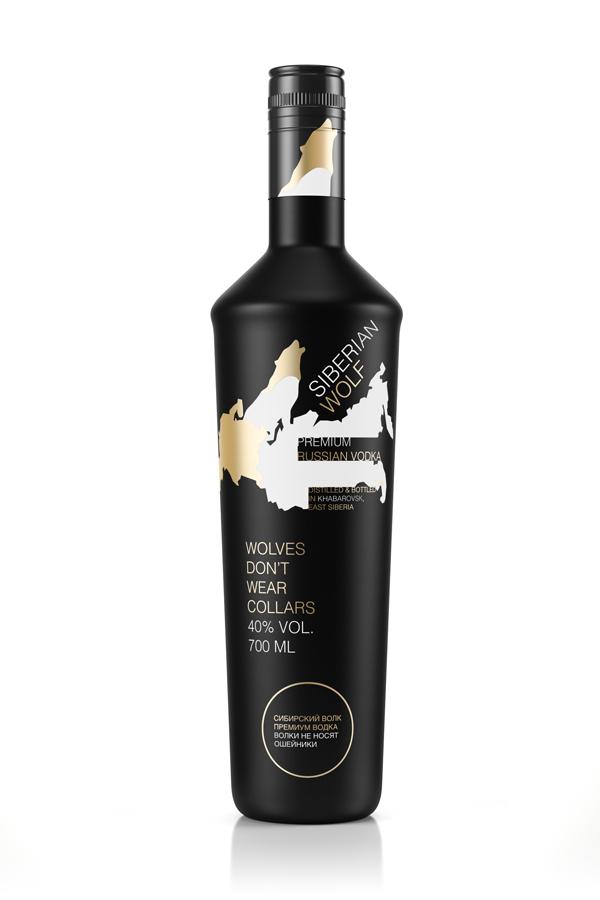 Butelka wódki Siberian Wolf