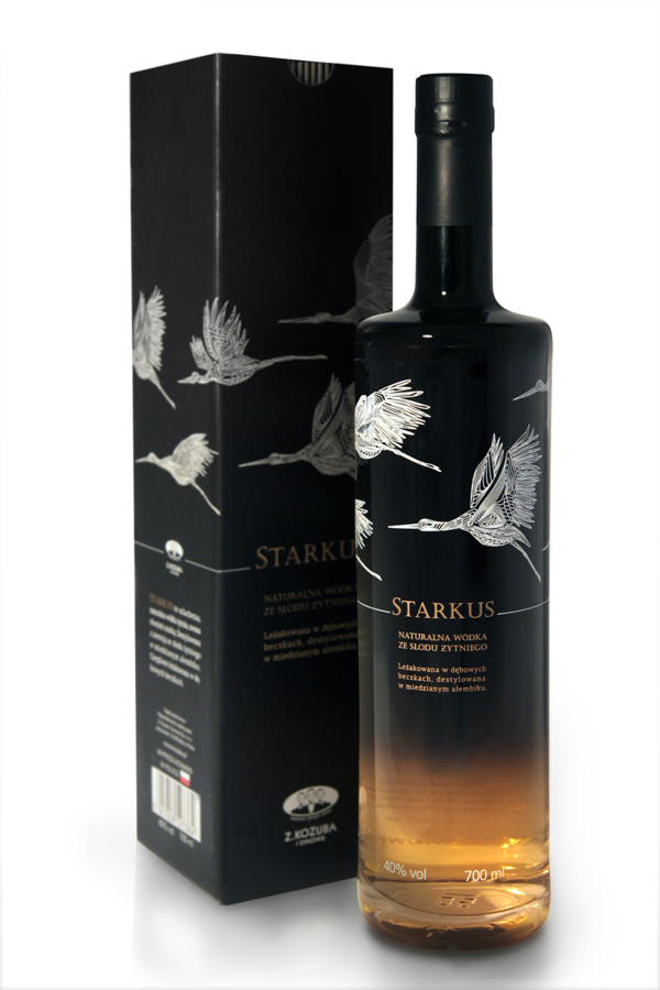 Butelka wódki Starkus