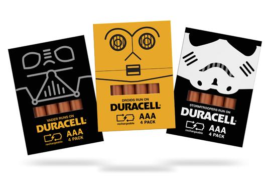 Opakowanie baterii Duracell (projekt studenta)