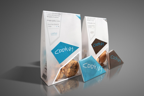 Opakowanie ciastek Cookies (koncepcja)