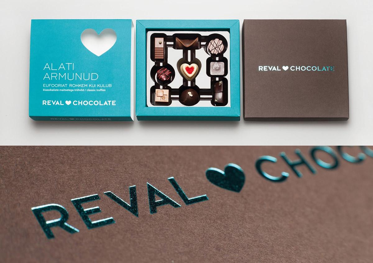 Opakowanie czekoladek RevalOpakowanie czekoladek Reval