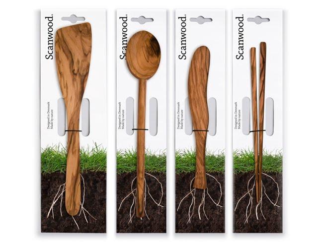 Opakowanie drewnianych przyrządów kuchennych Scanwood