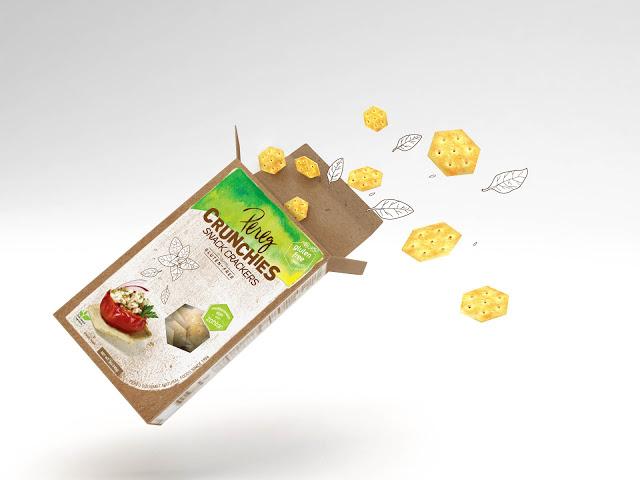 Opakowanie krakersów Crunchies