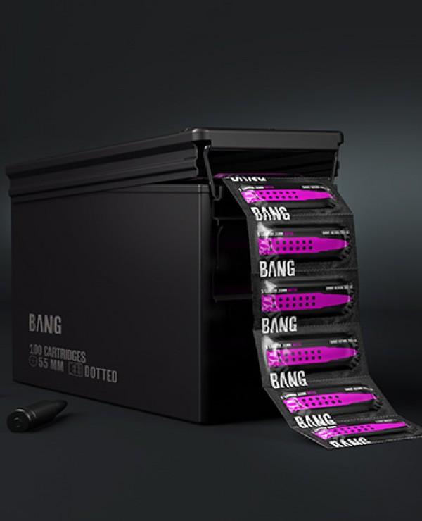 Opakowanie prezerwatyw BANG