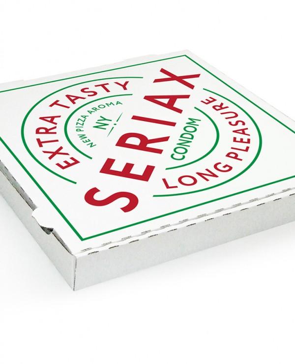 Prezerwatywy w pudełku po pizzy