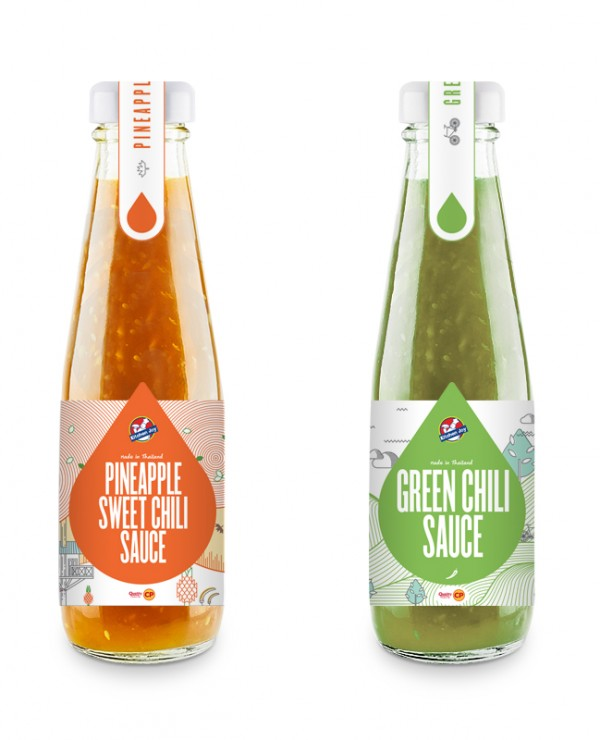 Projekt butelek sosu Kitchen Joy
