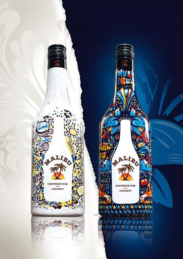 Projekt butelki Malibu (edycja limitowana)