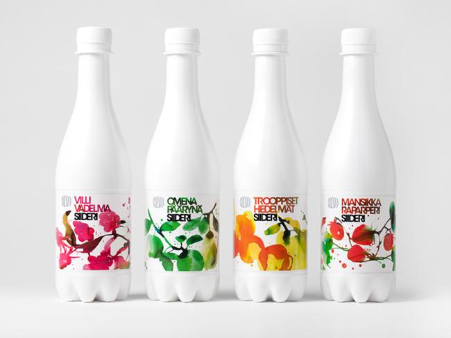 Projekt butelki Olvi Cider