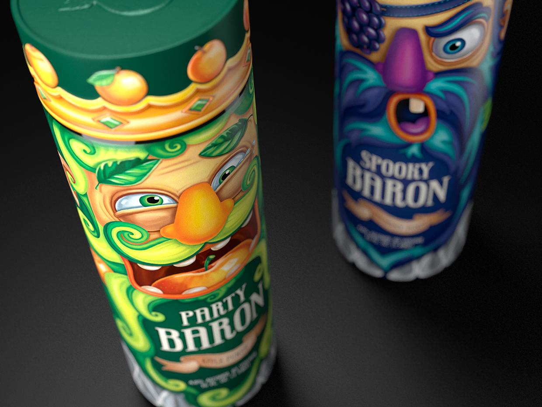 Projekt butelki Party Barons