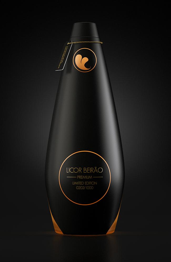 Projekt butelki likieru Licor Beirão