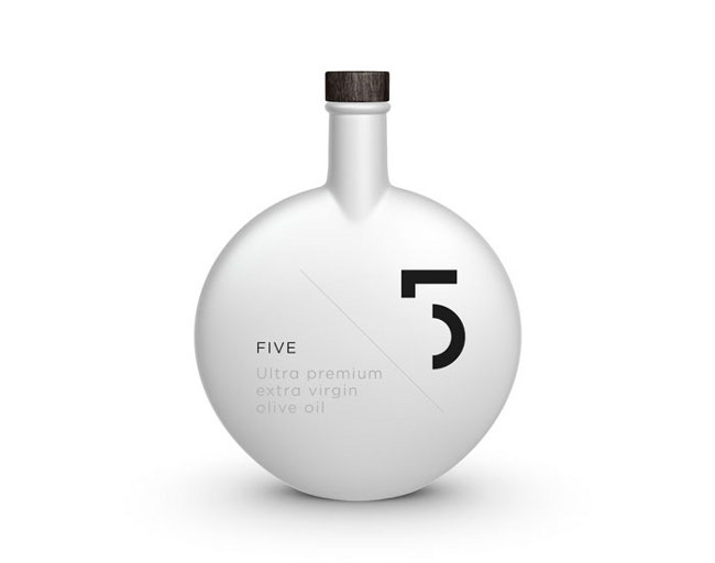 Projekt butelki oliwy 5 Olive Oil