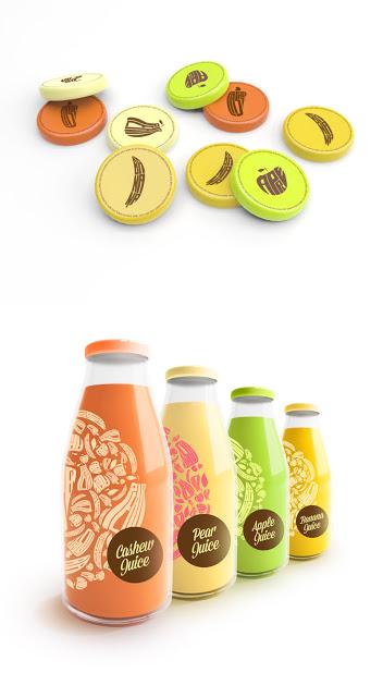 Projekt butelki soku Juice Bottles by Renan Artur Vizzotto