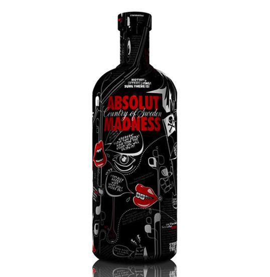 Projekt butelki wódki Absolut Madness (projekt studenta)