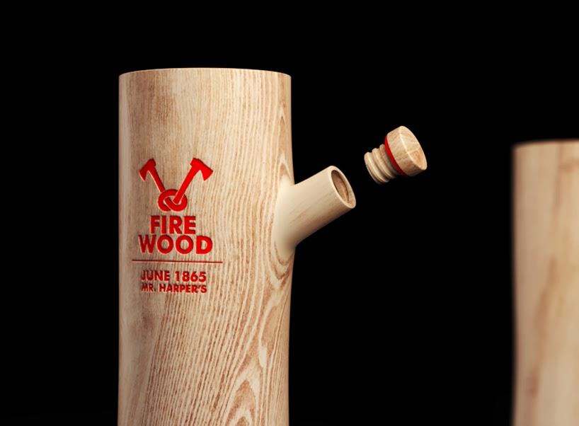 Projekt butelki wódki Firewood