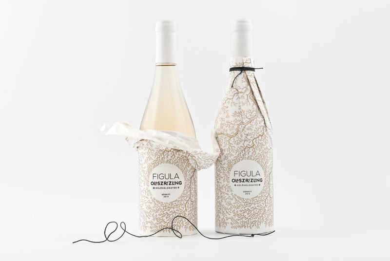 Projekt butelki wina Figula Olaszrizling