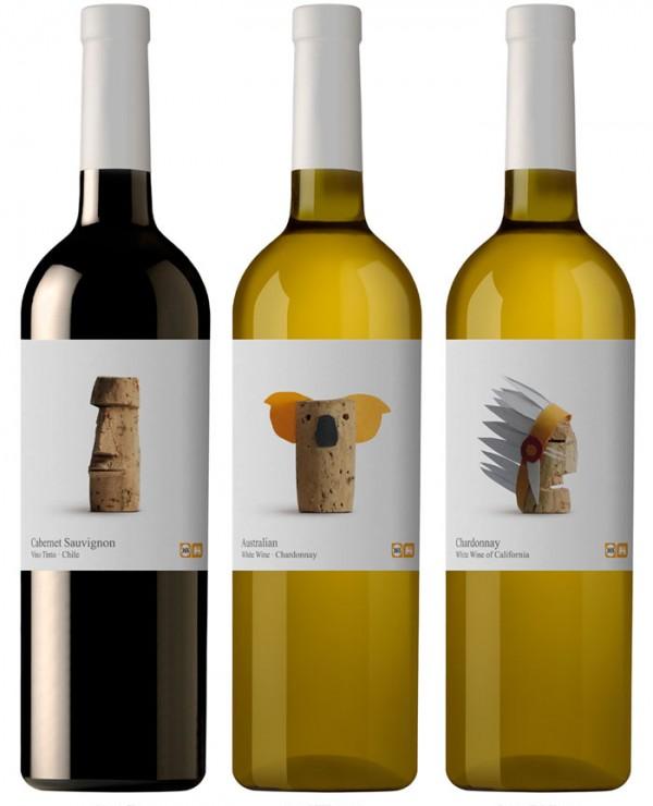 Projekt butelki wina dla supermarketów Delhaize
