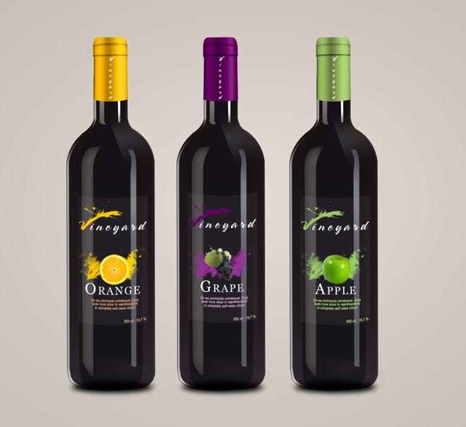 Projekt etykiety na butelki do wina (projekt studenta)2
