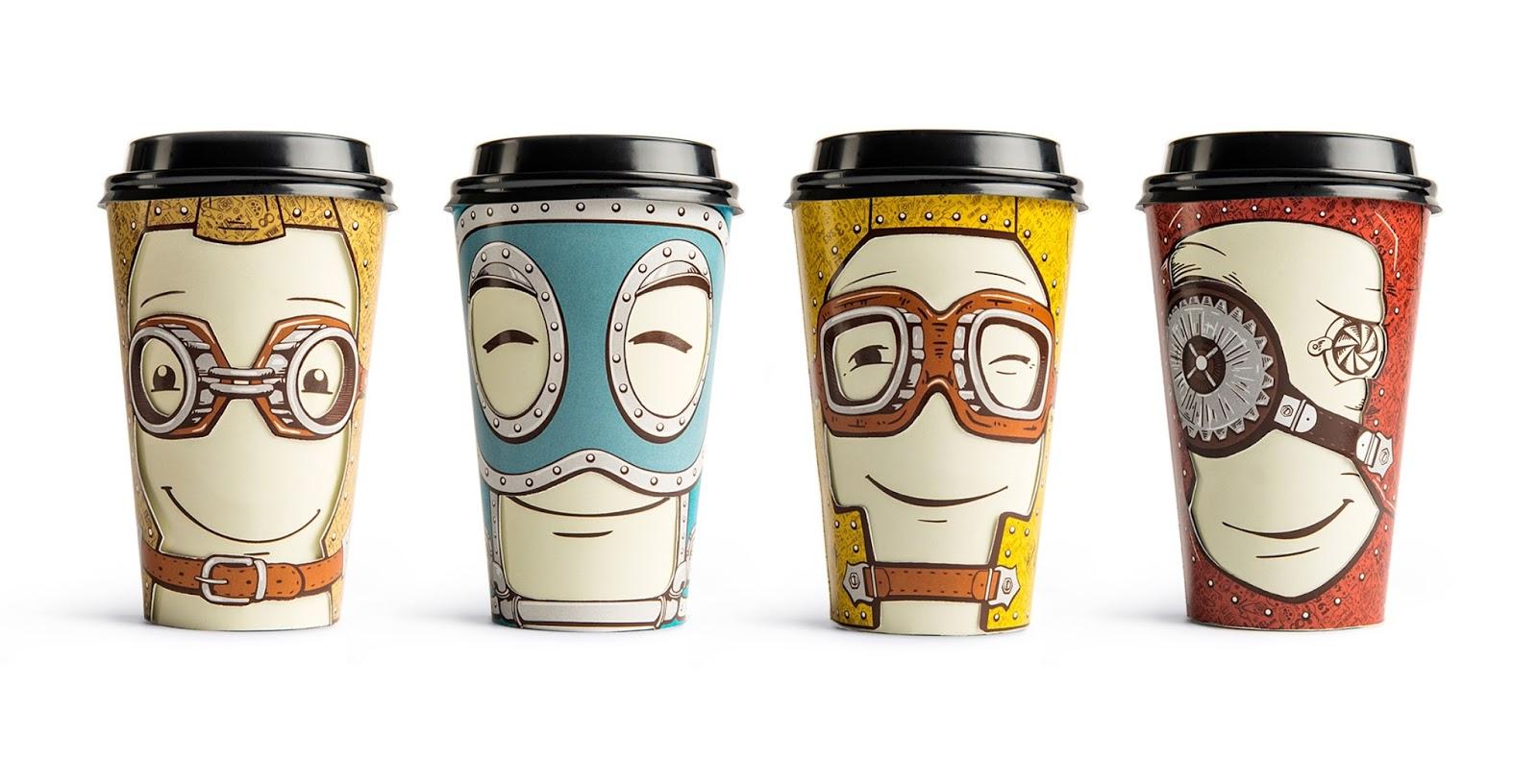 Projekt kubków do kawy