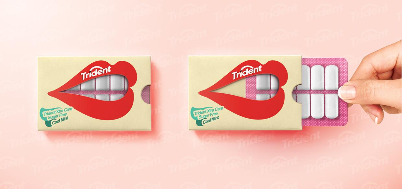 Projekt opakowania Trident gum