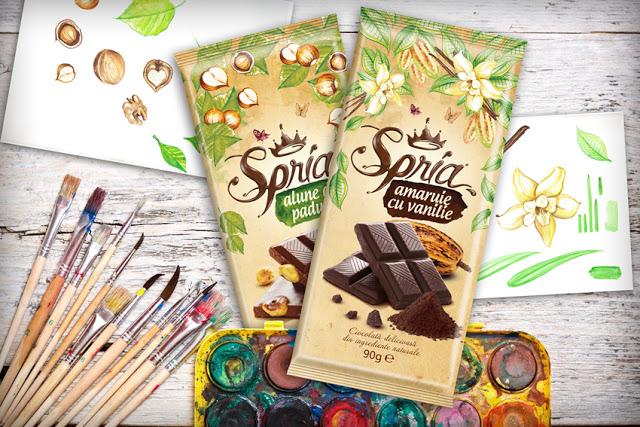 Projekt opakowania czekolady Spria