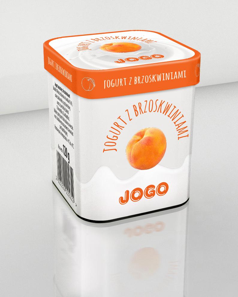 Projekt opakowania jogurtu Jogo3