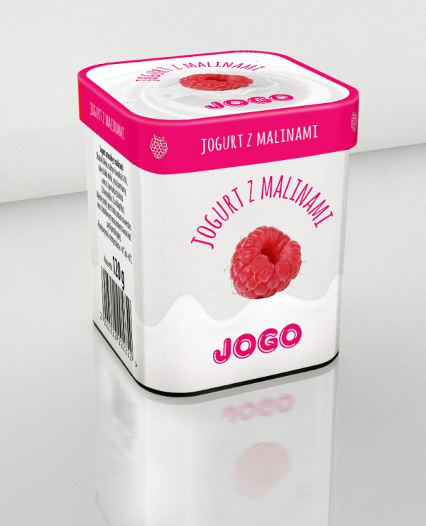 Projekt opakowania jogurtu Jogo
