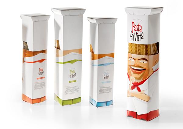 Projekt opakowania makaronu Pasta La Vista