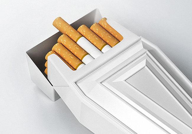 Projekt paczki papierosów AntiSmoke