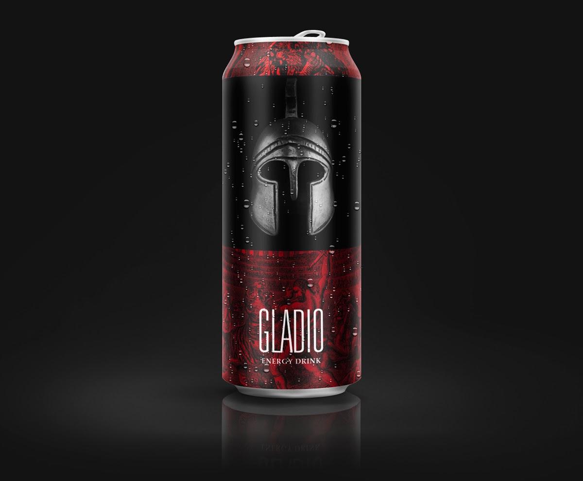 Projekt puszki energy drinka Gladio