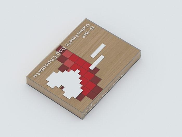 Pudełko czekolady 8-bit Valentine's Day Chocolate