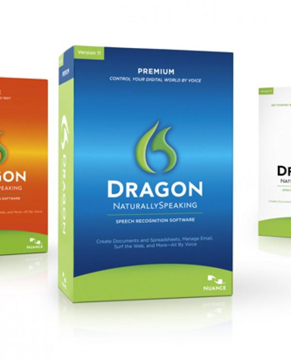 Pudełko z oprogramowaniem Dragon NaturallySpeaking