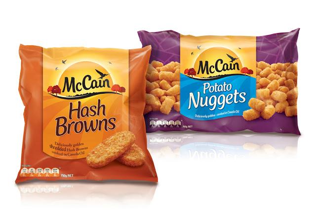 Seria opakowań dla marki McCain