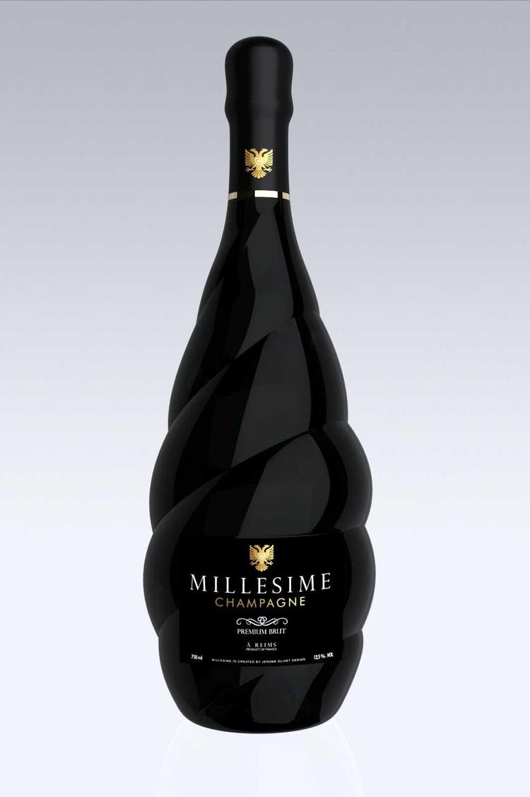 Projekt butelki szampana Millesime