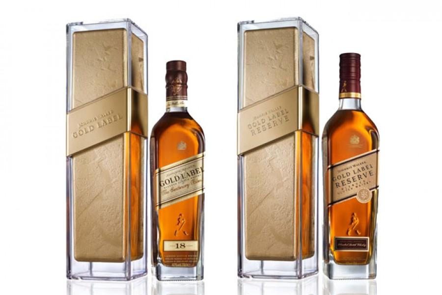projekt butelki Johnnie Walker Gold