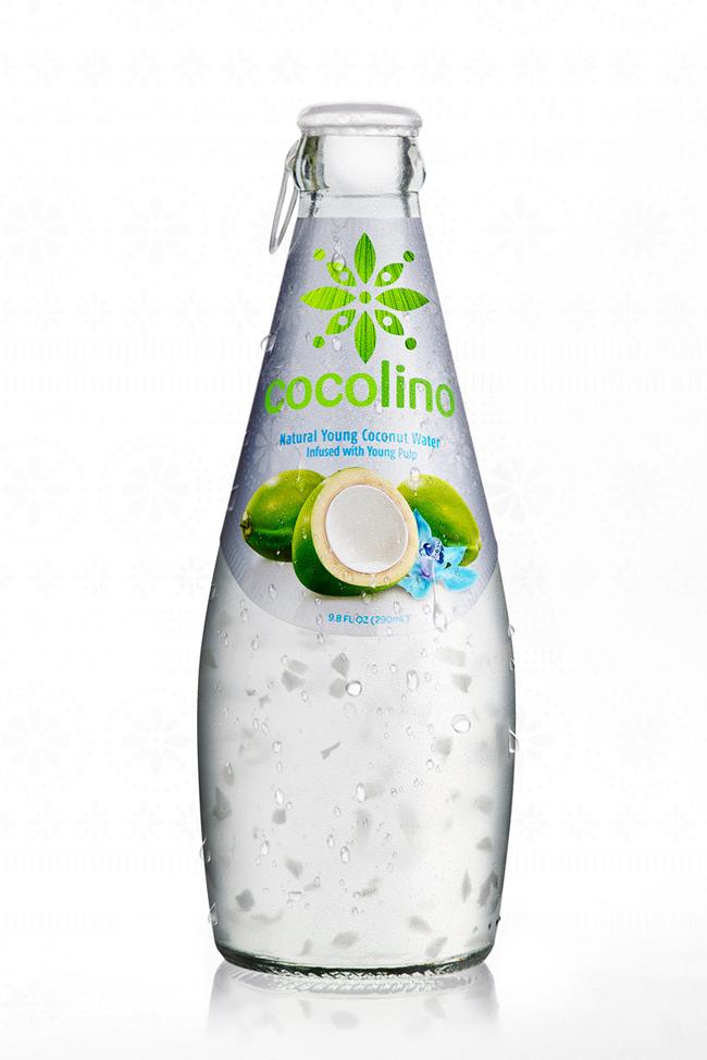 projekt butelki i puszki napoju Cocolino 2