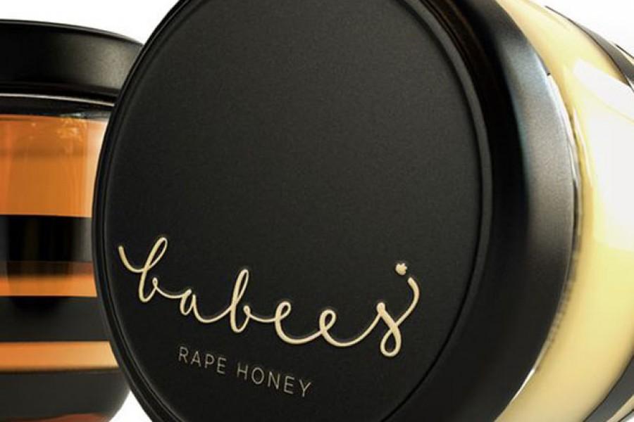 Projekt słoika z miodem Babees Honey 2